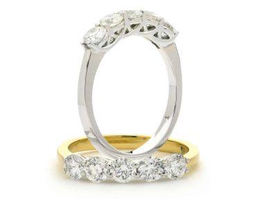 Rekkering i gull med Diamanter