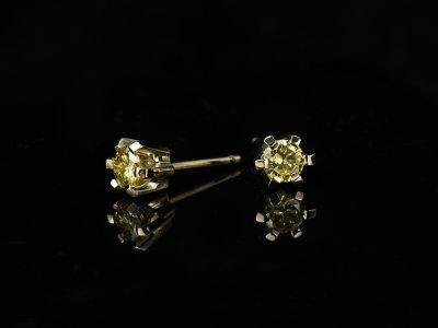 Enstens ørepynt med gule Diamanter