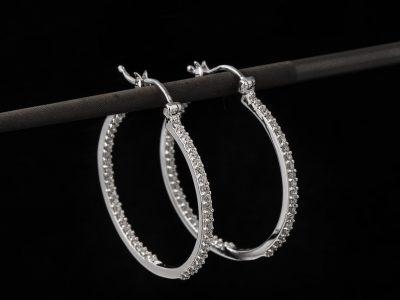 Diamant øreringer