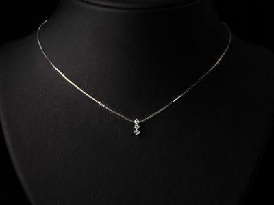 Diamant anheng med kjede