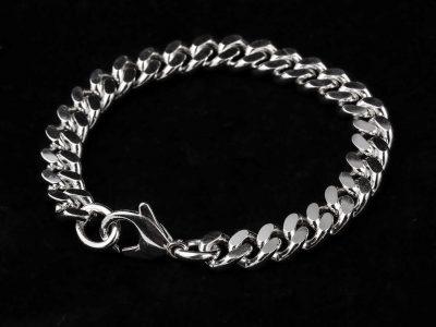 Panser armbånd i massivt sølv